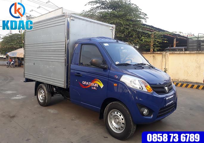 Xe tải 830kg Gratour T3, 1.2L Thùng Kín