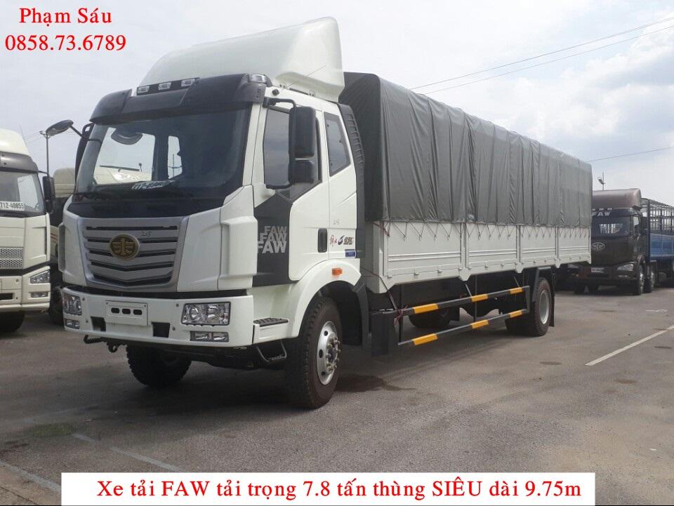 Xe tải 7.25 tấn thùng dài 9m6 mui bạt
