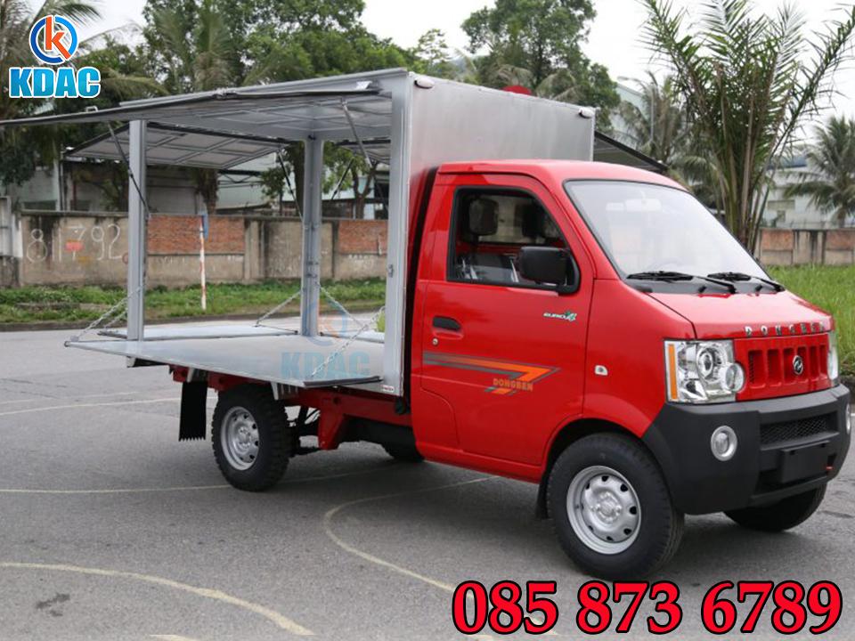 Xe tải Dongben K9 990kg thùng kín cánh dơi - Xe bán Hàng lưu động