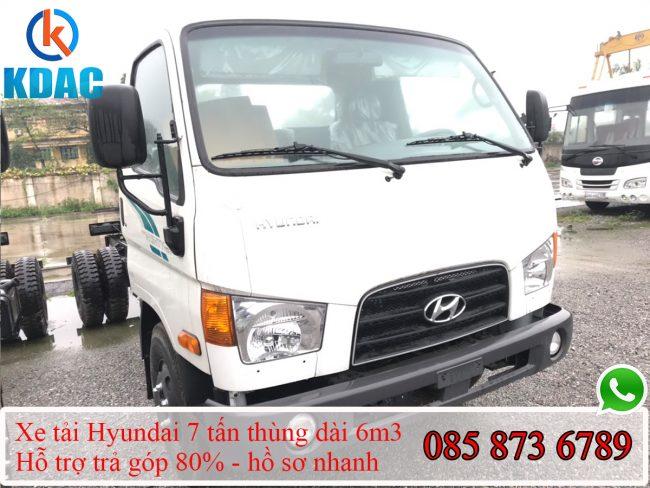 Hyundai 7 tấn thùng 6m3